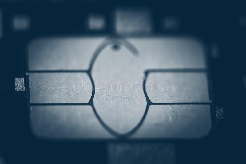 Credit card chip macro stock image