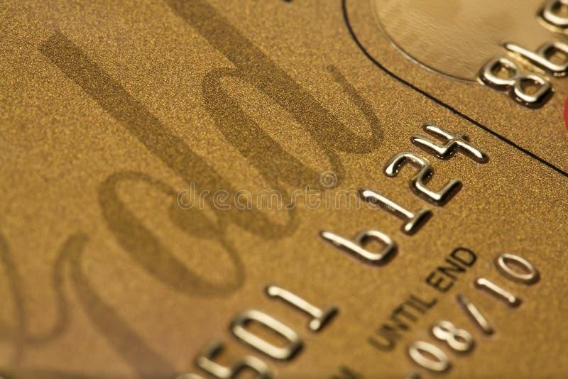 Credit Card Close-Up stock photography