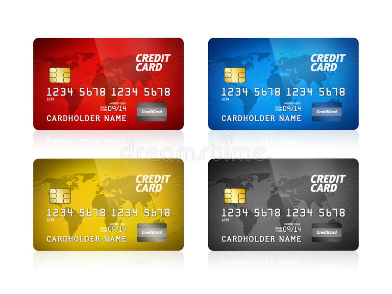 Download Credit Card Collection Isolated Stock Illustration - Image: 25148957