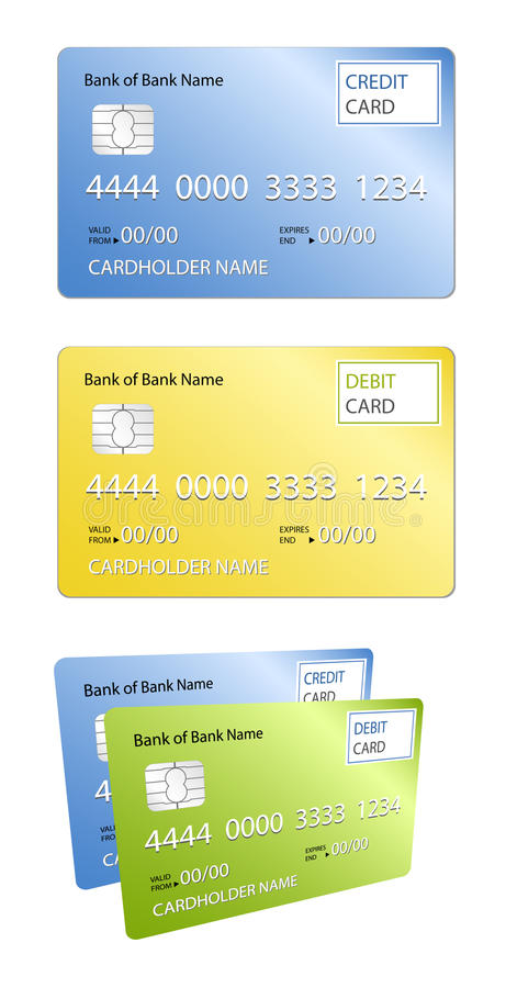 Download Credit card & Debit card stock illustration. Image of account - 13189570