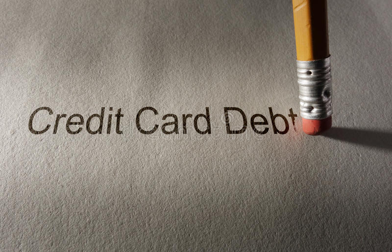 Credit card debt fix stock image