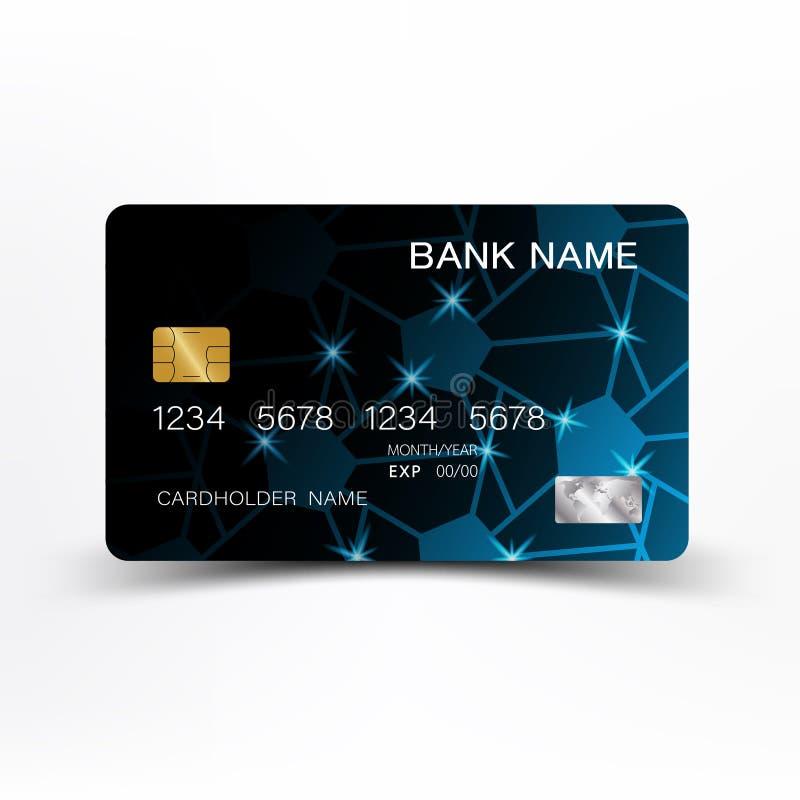Credit card design. Blue credit card design. On white background vector EPS10 royalty free illustration
