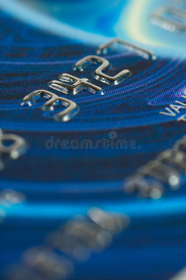 Credit card digits close-up. stock images