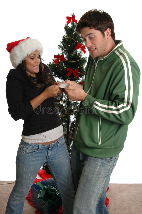 Credit Card Fight royalty free stock photo