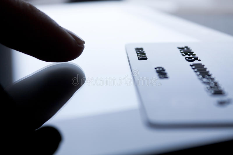 Download Credit card and finger stock image. Image of information - 30821303