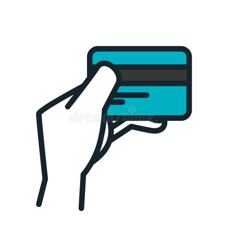 Credit card flat icon. Illustration design vector illustration