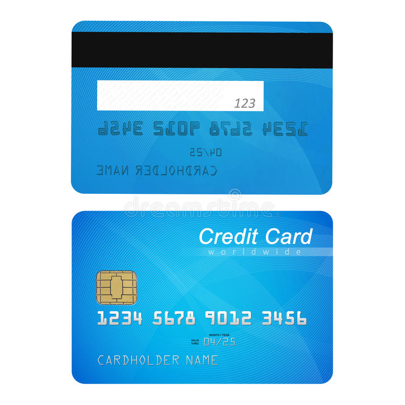 Credit Card Front And Back Stock Illustration