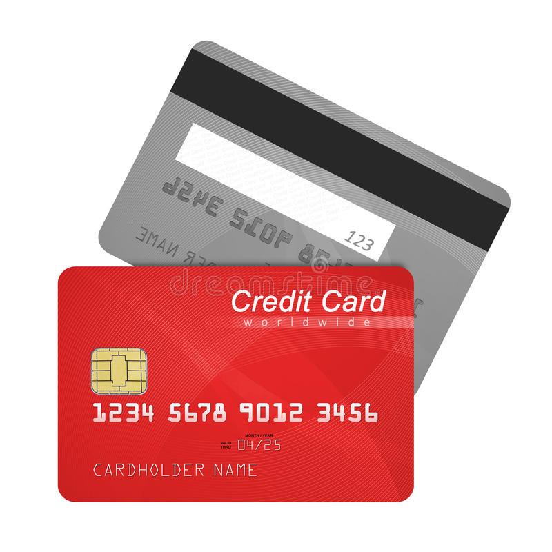Credit card front and back stock photography