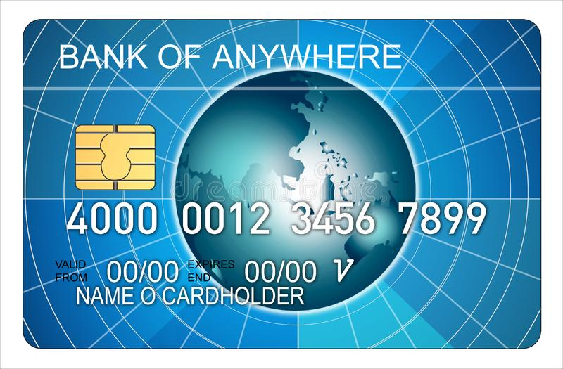 Credit card globe stock images