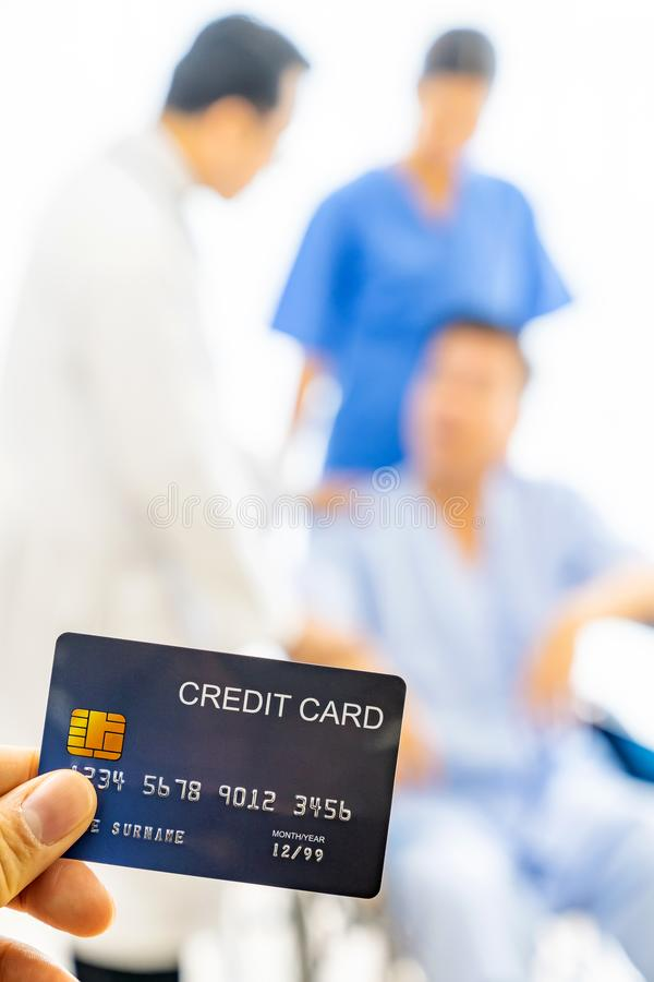 Credit card health insurance concept stock photography