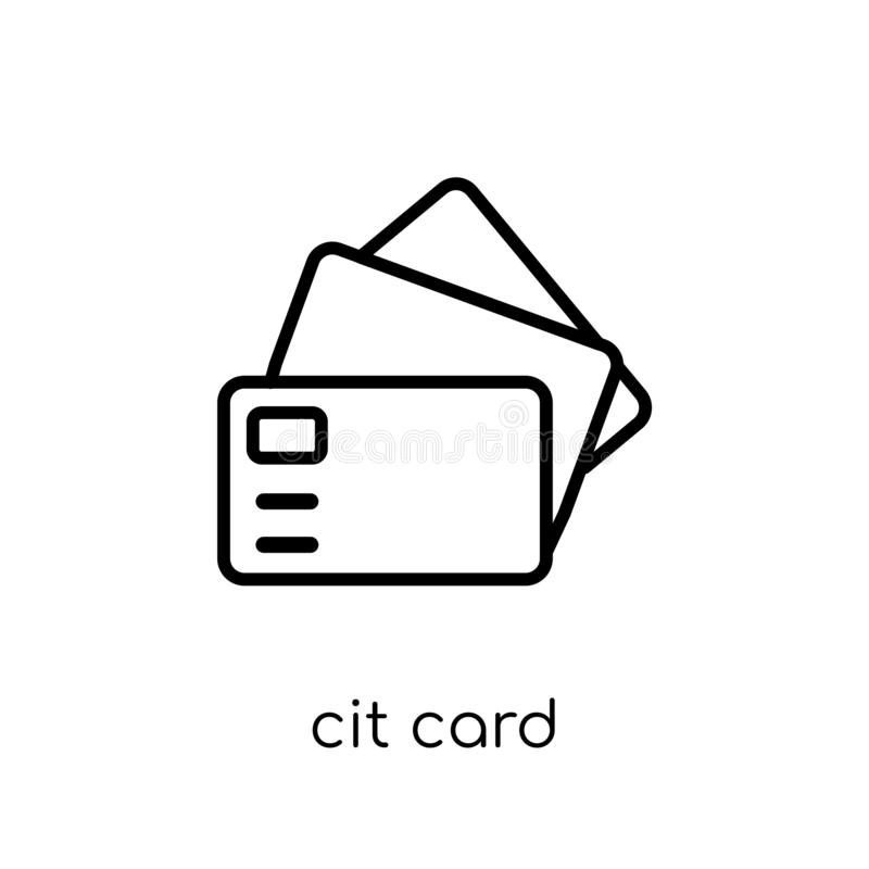 Credit card icon from collection. stock illustration