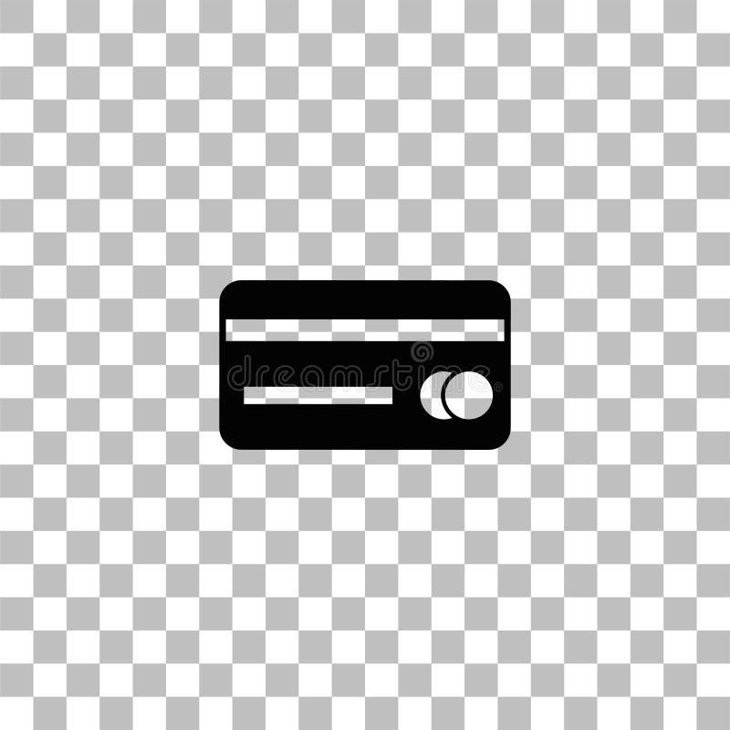 Credit card icon flat royalty free illustration