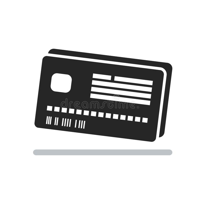 Credit Card icon isolated on white background royalty free stock image