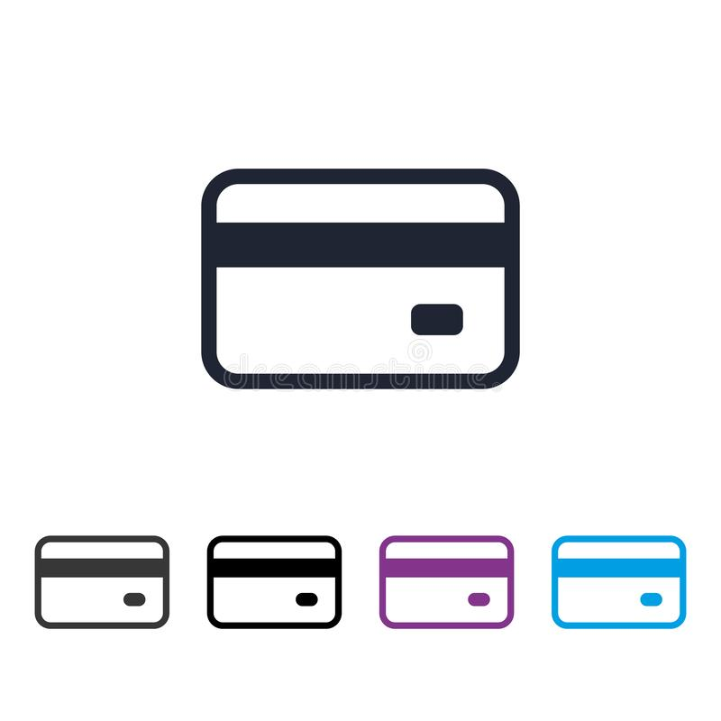 Credit card icon vector eps10. Bank credit card vector sign. vector illustration