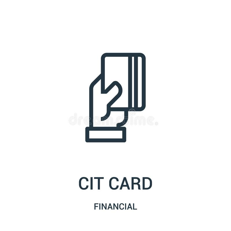 Credit card icon vector from financial collection. Thin line credit card outline icon vector illustration. Linear symbol for use. On web and mobile apps, logo stock illustration