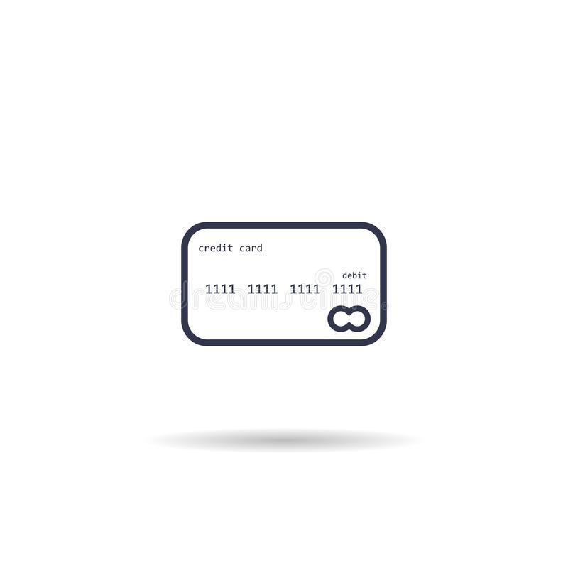 credit card icon. vector symbol on white background EPS10 royalty free illustration