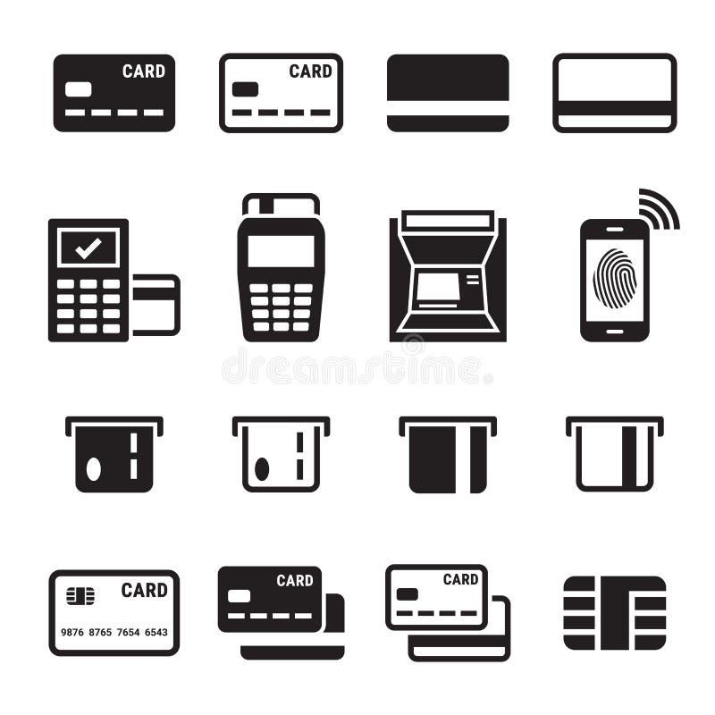 Credit card icons set royalty free illustration