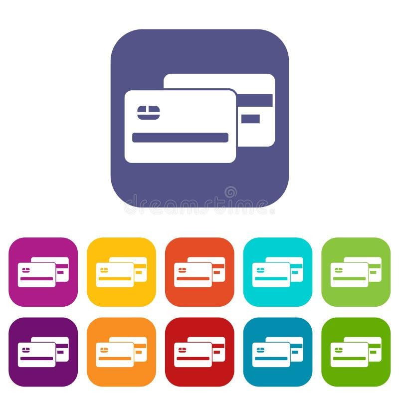 credit card icons set stock vector illustration of object 96298381 rh dreamstime com credit card logos vector free download visa credit card logo vector