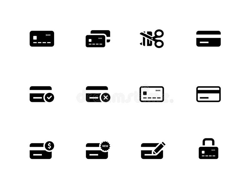 Download Credit Card Icons On White Background. Stock Vector - Illustration: 33444575