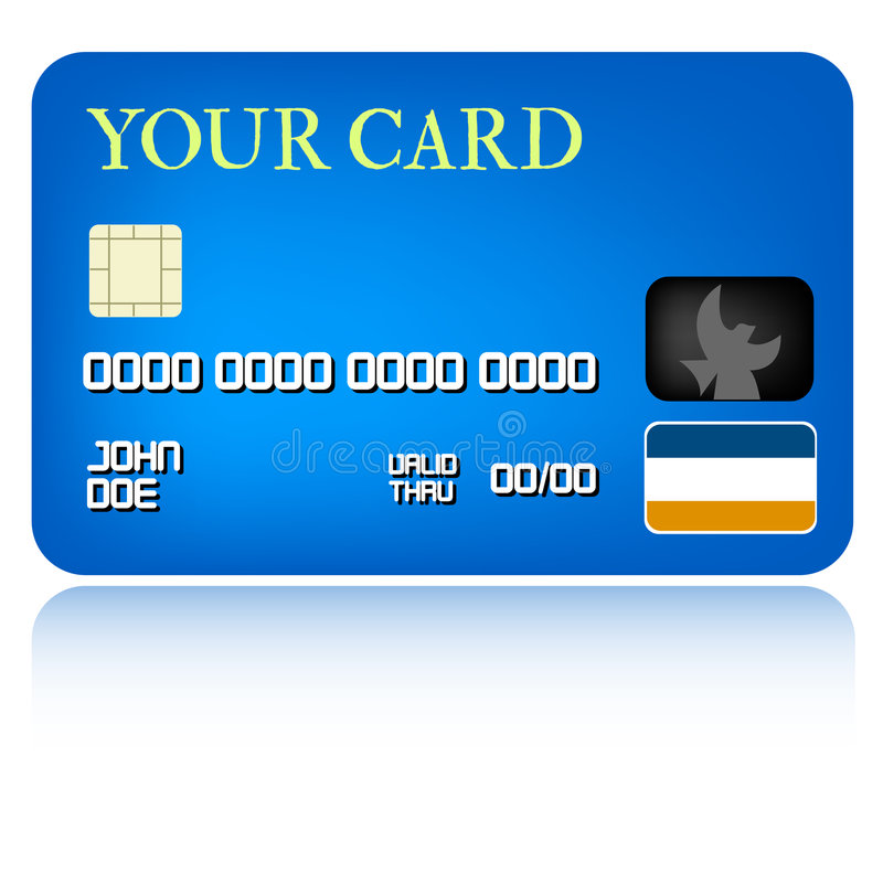 Credit Card Illustration. Vectorial illustration for simple credit card