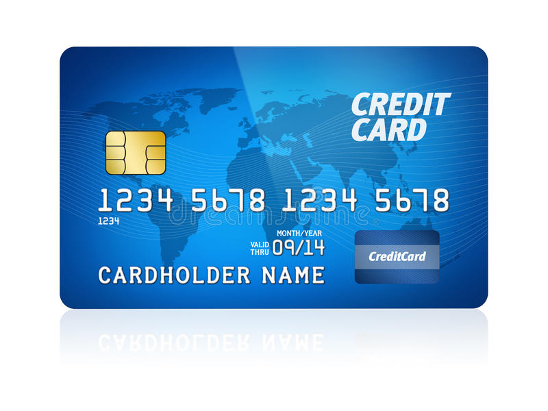 Download Credit Card Isolated stock illustration. Image of chip - 25148986