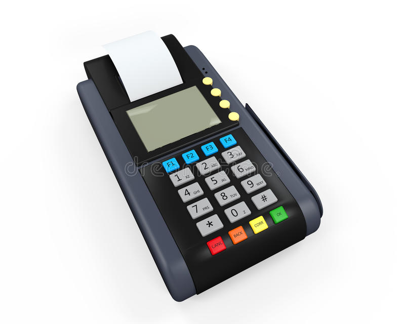 Download Credit Card Machine Isolated Stock Illustration - Image: 34383897