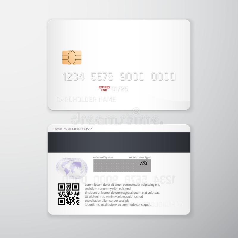 Credit Card Mockup. Realistic Detailed Credit Cards Set Abstract ...