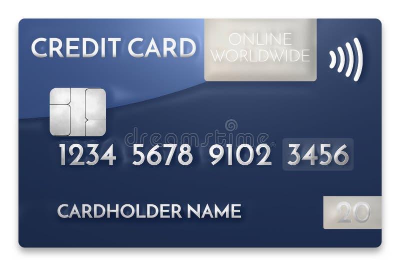 Credit Card Modern Prime Example 3d Render Stock Illustration ...