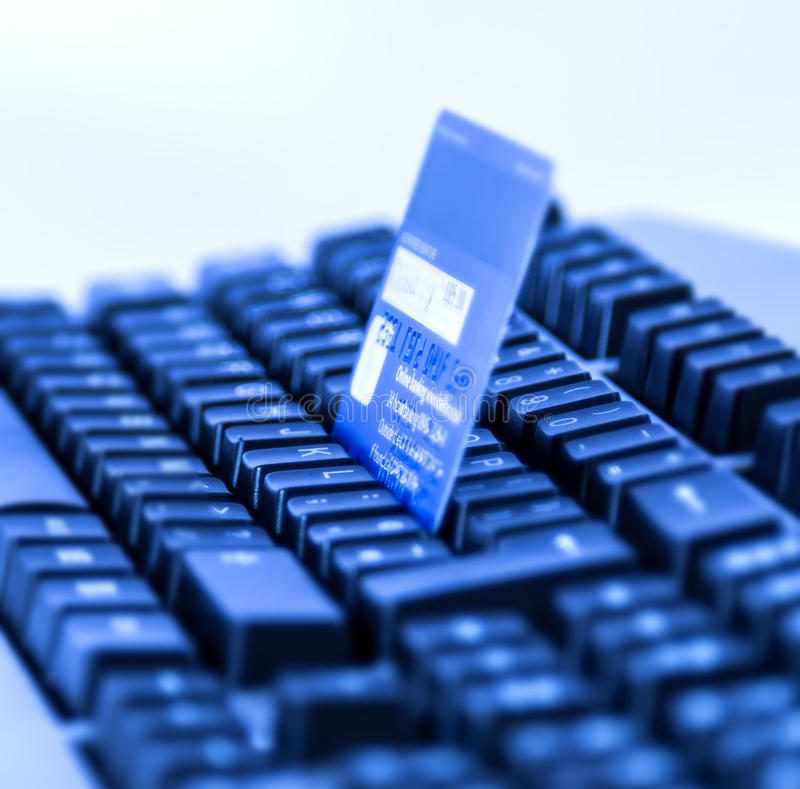 Credit Card Online Shopping. Photo of a Credit Card for online Shopping royalty free stock photo