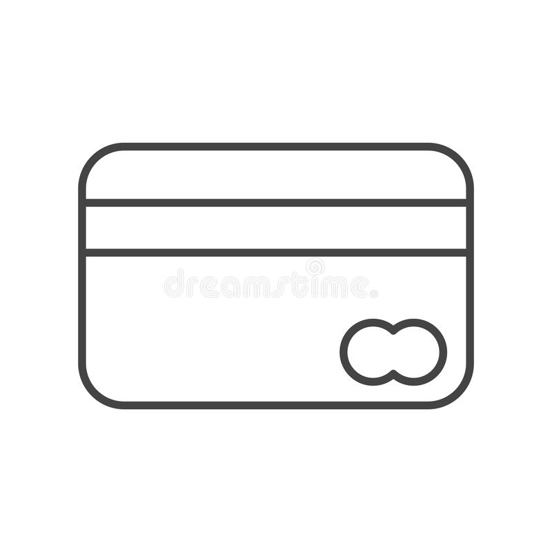 Credit card outline vector eps10. Bank icon. Payment sign. credit card grey icon. stock illustration