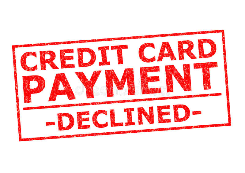 CREDIT CARD PAYMENT DECLINED royalty free stock photo