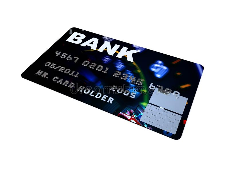 Download Credit Card Platinum Closeup Pictures Stock Illustration - Illustration: 9758807