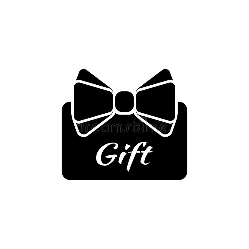 Credit Card Present, Gift with Ribbon Flat Vector Icon vector illustration