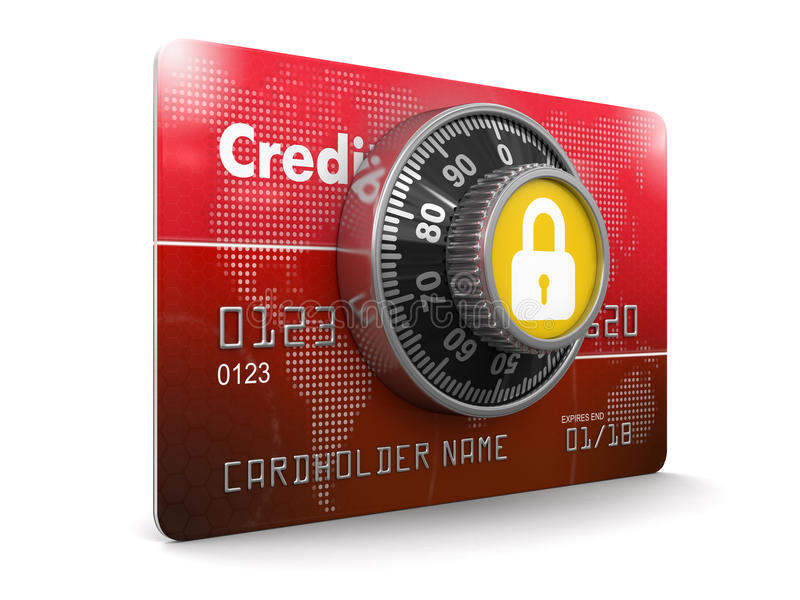 Credit Card Protection (clipping path included) vector illustration