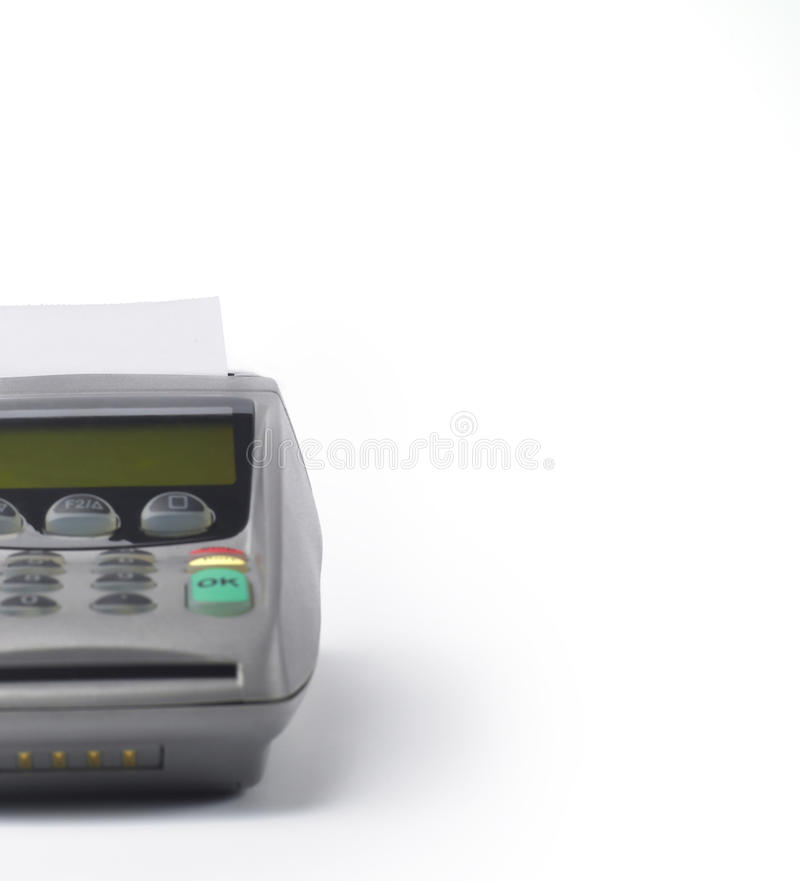Free Credit Card Reader Blank Paper Royalty Free Stock Photography - 9471507
