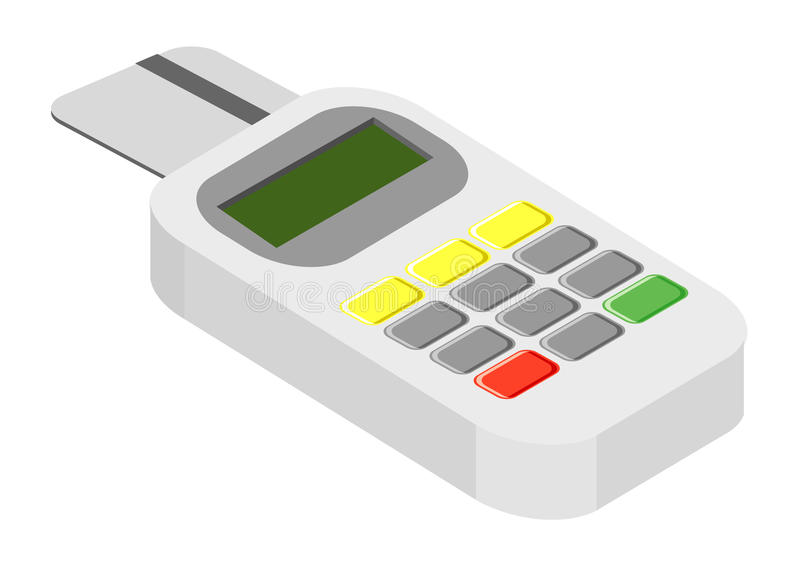 Credit card reader device royalty free illustration