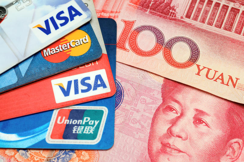 Download Credit card with RMB editorial photo. Image of company - 22294301