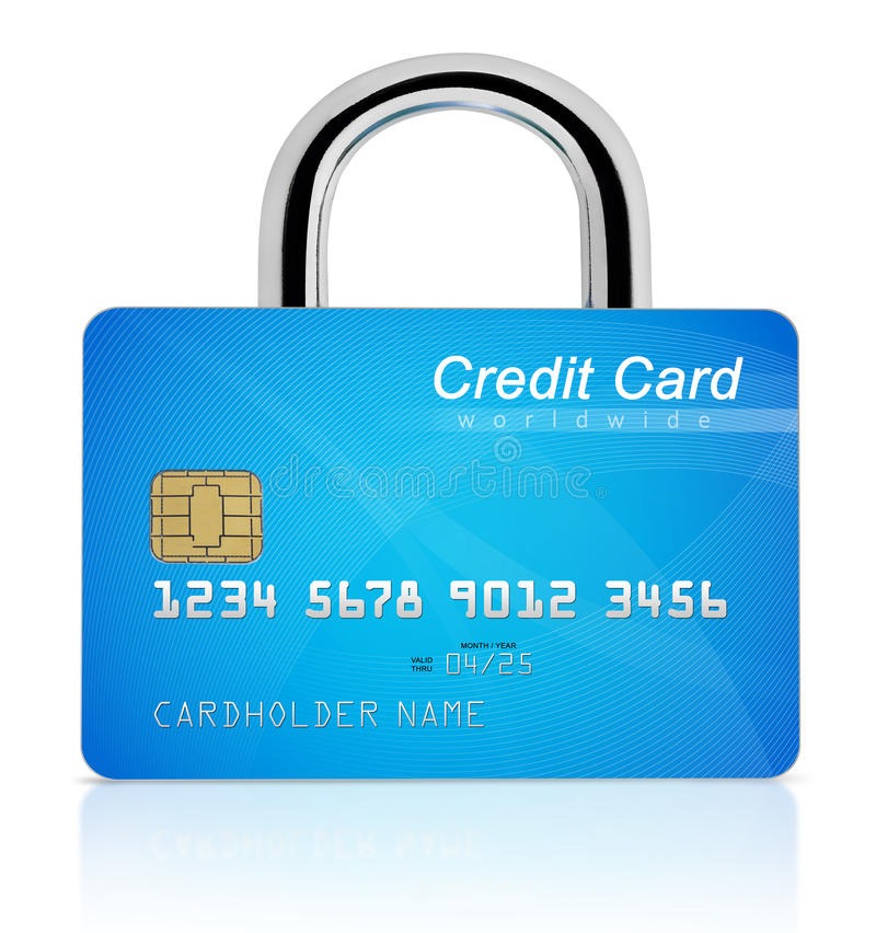 Credit card safety royalty free stock photography