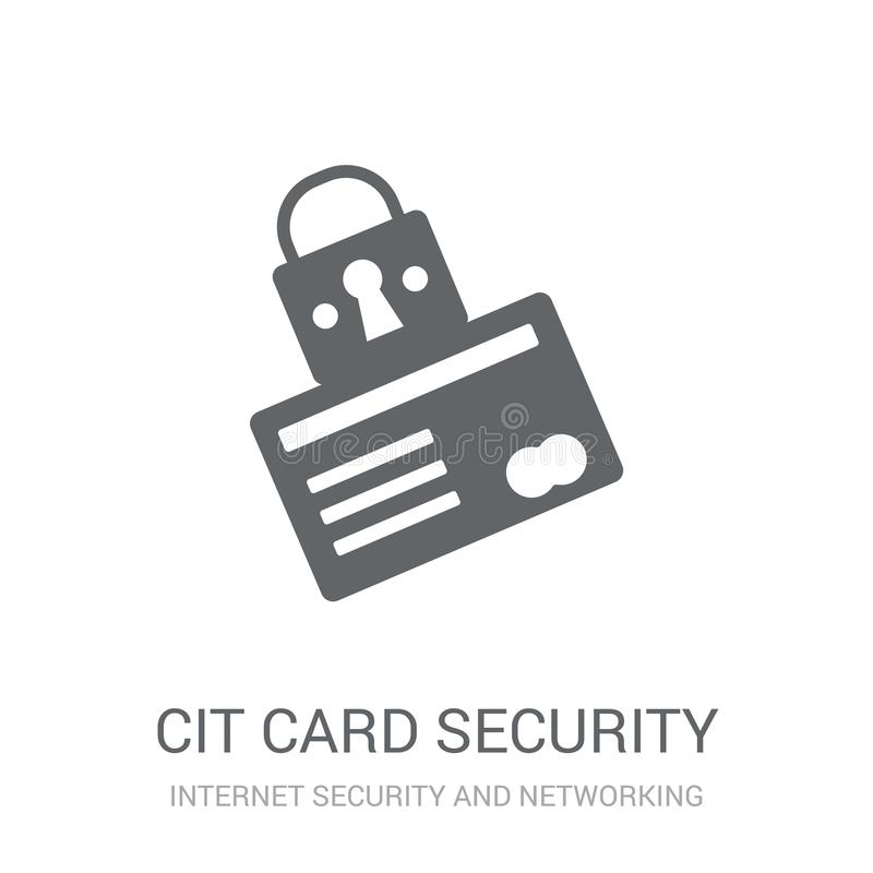 Credit card security icon. Trendy Credit card security logo concept on white background from Internet Security and Networking col royalty free illustration