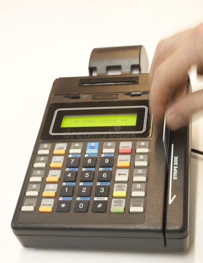 Credit Card Swipe. Credit card point of sale terminal swipe royalty free stock image
