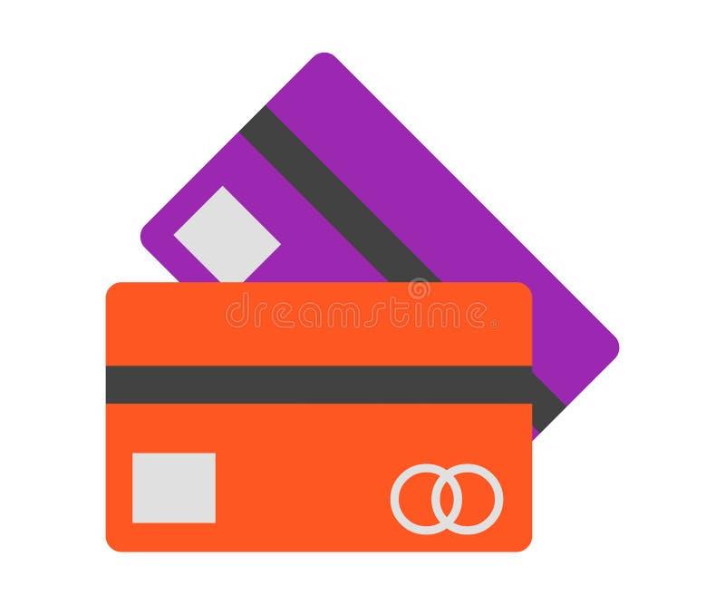 Credit card symbol Isolated on White Background stock illustration