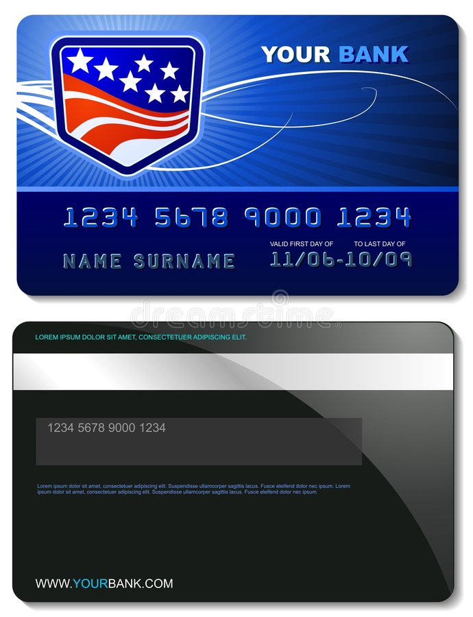 Credit Card Template royalty free illustration