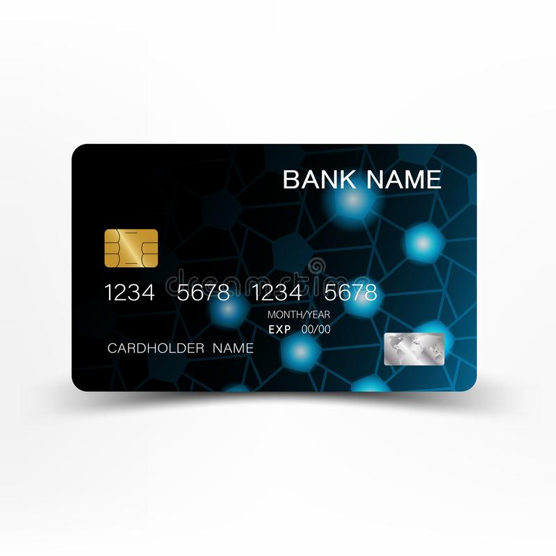 Credit card template design. vector illustration