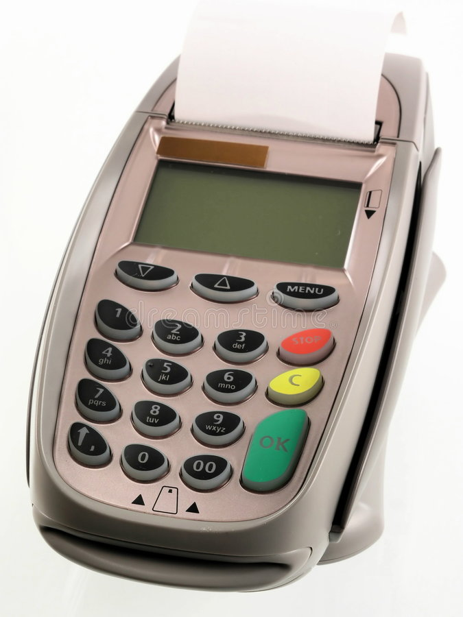 Credit card terminal royalty free stock images