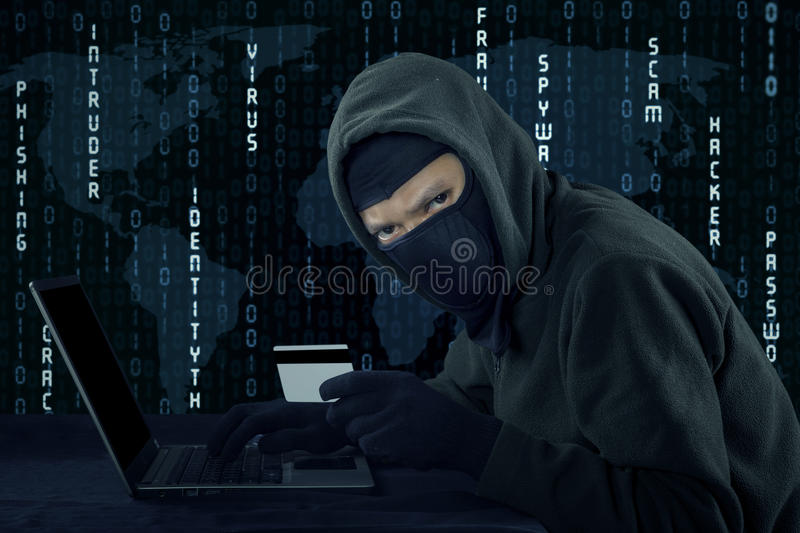 Credit card theft concept royalty free stock image