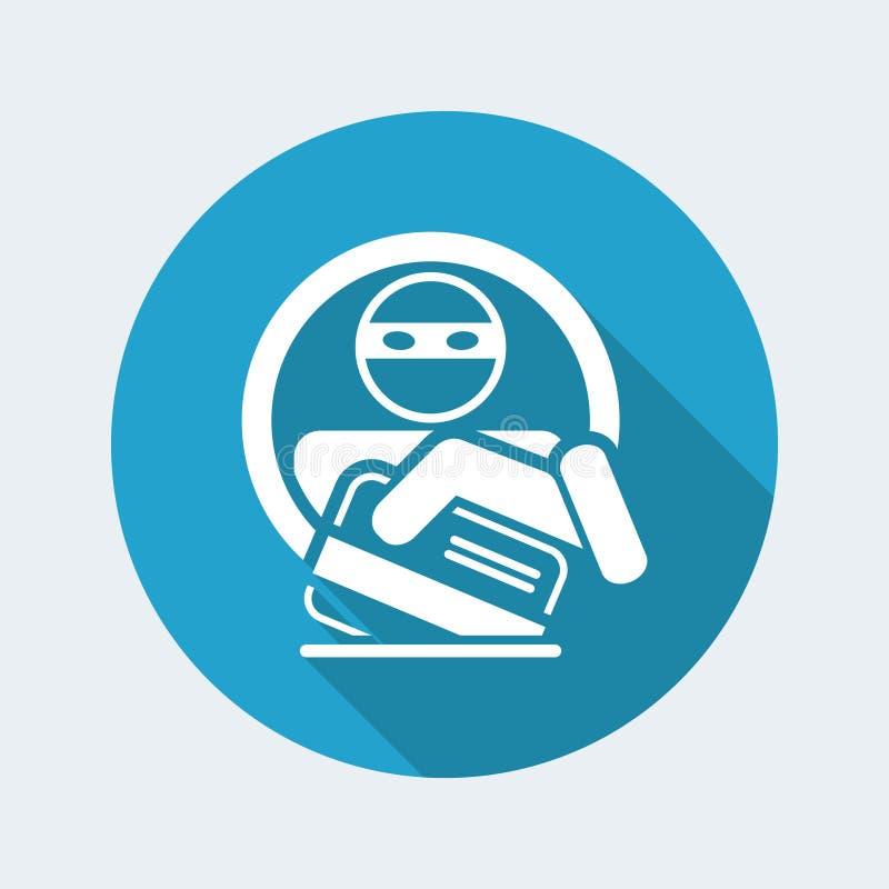 Credit card theft vector illustration