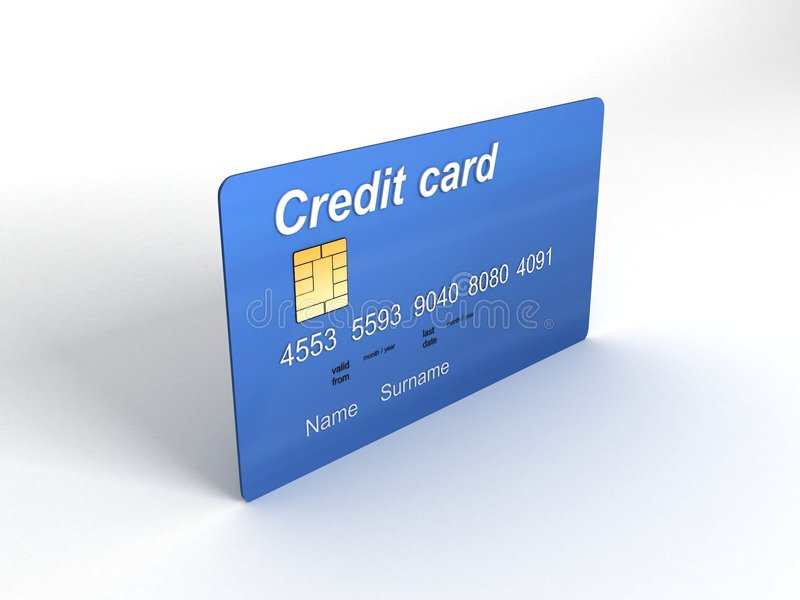 Credit Card In Three Dimensions Royalty Free Stock Photo
