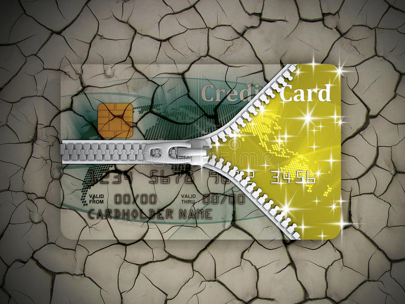 Download Credit card transformation stock illustration. Image of finance - 18037032