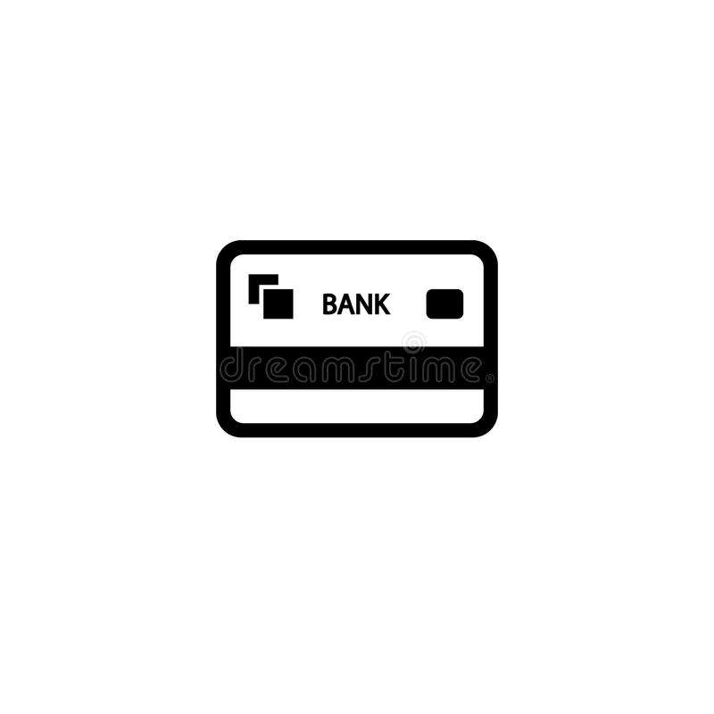 Credit card vector icon vector illustration