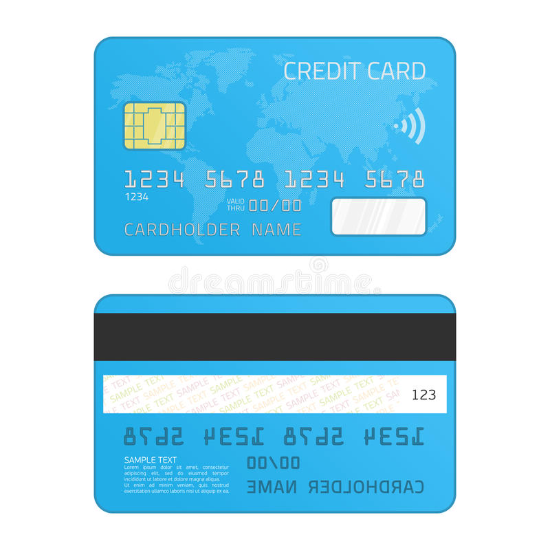 Credit card vector. royalty free illustration